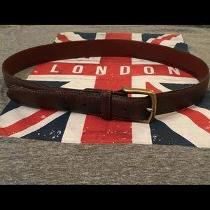 Vintage Coach men's belt dark brown brass buckle
